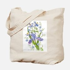 Blue Bouquet Tote Bag
