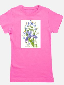 Blue Bouquet Girl's Tee