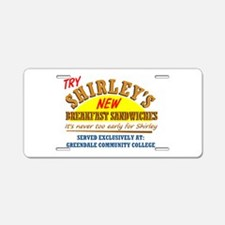 Shirley's Sandwiches Aluminum License Plate