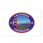 The California Freemason Postcards (Package of 8)