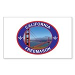 The California Freemason Rectangle Sticker