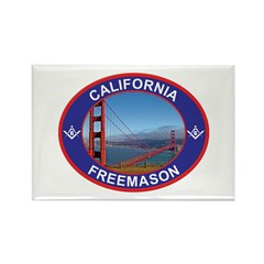 The California Freemason Rectangle Magnet (10 pac