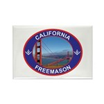 The California Freemason Rectangle Magnet (100 pa