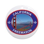 The California Freemason Ornament (Round)