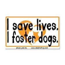 Cute Dog rescue car Rectangle Car Magnet