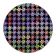 122 Daisies Round Car Magnet