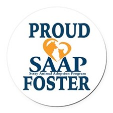 proud saap foster Round Car Magnet