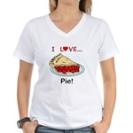 I Love Pie Women's V-Neck T-Shirt
