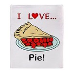 I Love Pie Throw Blanket