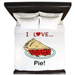 I Love Pie King Duvet