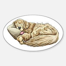 Golden Retriever Sleeping Decal