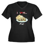 I Love Pie Women's Plus Size V-Neck Dark T-Shirt