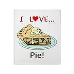 I Love Pie Throw Blanket