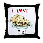 I Love Pie Throw Pillow