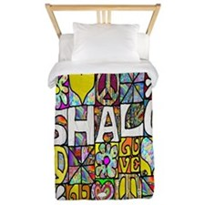 Psychedelic Shalom Twin Duvet