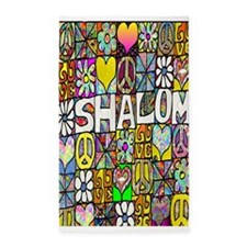 Psychedelic Shalom 3'x5' Area Rug