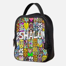 Psychedelic Shalom Neoprene Lunch Bag