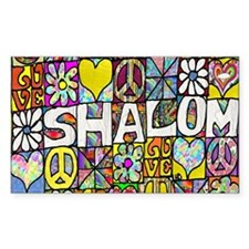 Psychedelic Shalom Decal