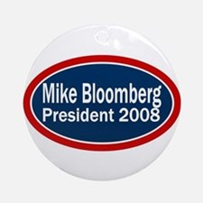 Vote Mike Bloomberg Ornament (Round)
