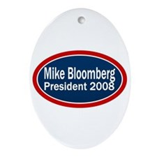 Vote Mike Bloomberg Oval Ornament