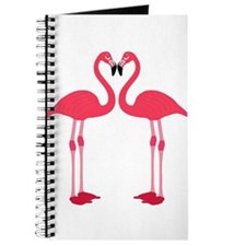Two Cartoon Flamingos Journal