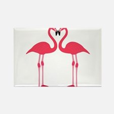 Two Cartoon Flamingos Magnets