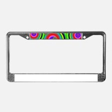 Psychedelic Circles by designe License Plate Frame