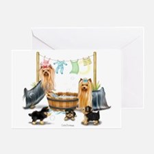 Laundry Day ByCatiaCho Greeting Cards