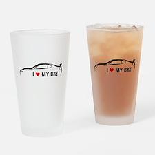 I Love My BRZ Drinking Glass