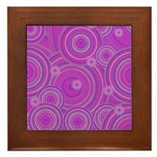 pink circles by designeffects Framed Tile