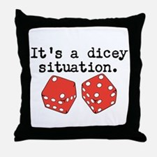 Dicey Situation Funny Dice Throw Pillow