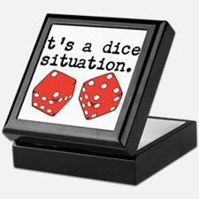 Dicey Situation Funny Dice Keepsake Box