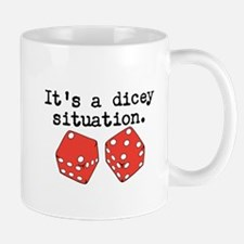 Dicey Situation Funny Dice Mugs