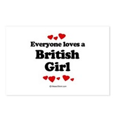 Everyone loves a British girl Postcards (Package o