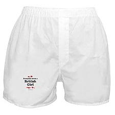 Everyone loves a British girl Boxer Shorts