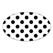 Black and White Polka Dots Decal
