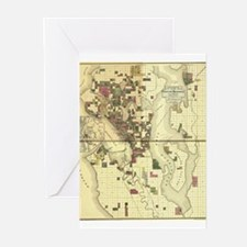 Funny Map printing Greeting Cards (Pk of 10)