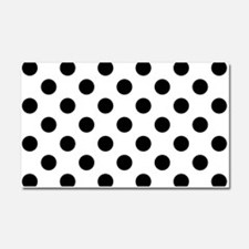 Black and White Polka Dots Car Magnet 20 x 12