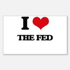 I Love The Fed Decal