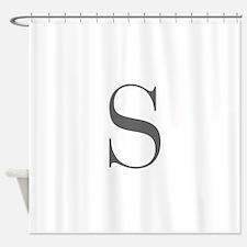 S-fle black Shower Curtain