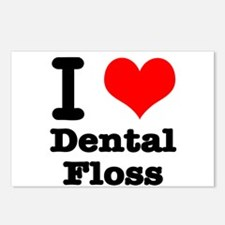 I Heart (Love) Dental Floss Postcards (Package of