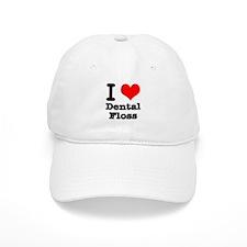 I Heart (Love) Dental Floss Baseball Cap