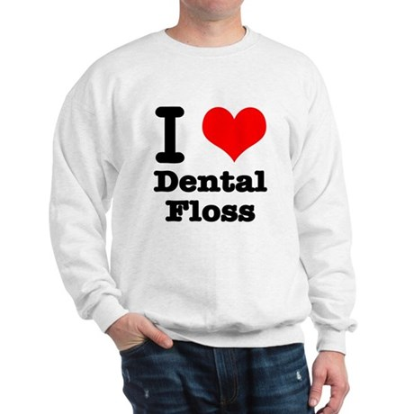 I Heart (Love) Dental Floss Sweatshirt