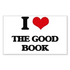 I Love The Good Book Decal
