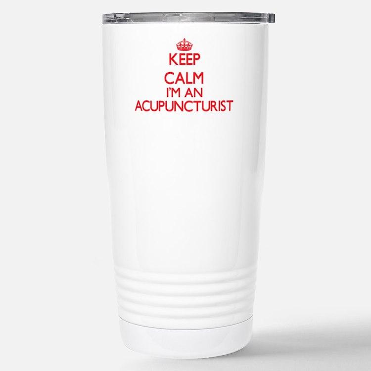 Keep calm I'm an Acupun Stainless Steel Travel Mug