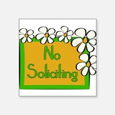 "Cute Soliciting Square Sticker 3"" x 3"""