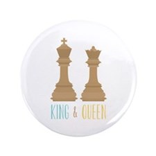 "King and Queen 3.5"" Button"