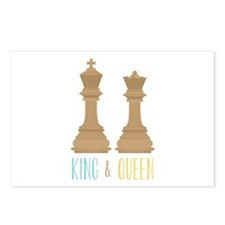 King and Queen Postcards (Package of 8)