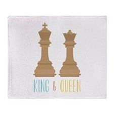 King and Queen Throw Blanket