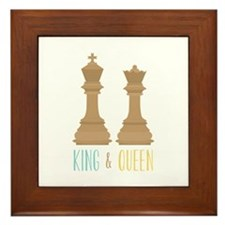 King and Queen Framed Tile